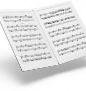 Partituras de música con tinta electrónica