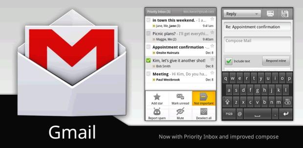 GMail presenta tres nuevos productos en la versión para móviles