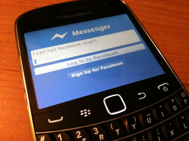 Actualización de Facebook Messenger para BlackBerry