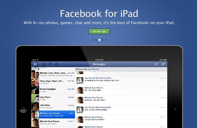 Facebook finalmente tiene su versión para iPad