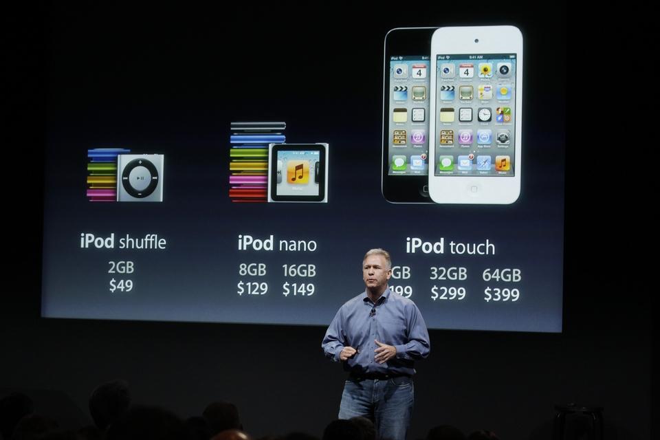 Nuevas versiones de iPods