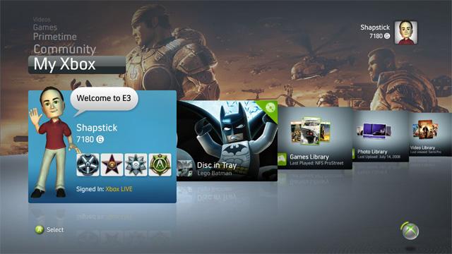 Ya esta disponible la versión beta del nuevo dashboard para Xbox 360