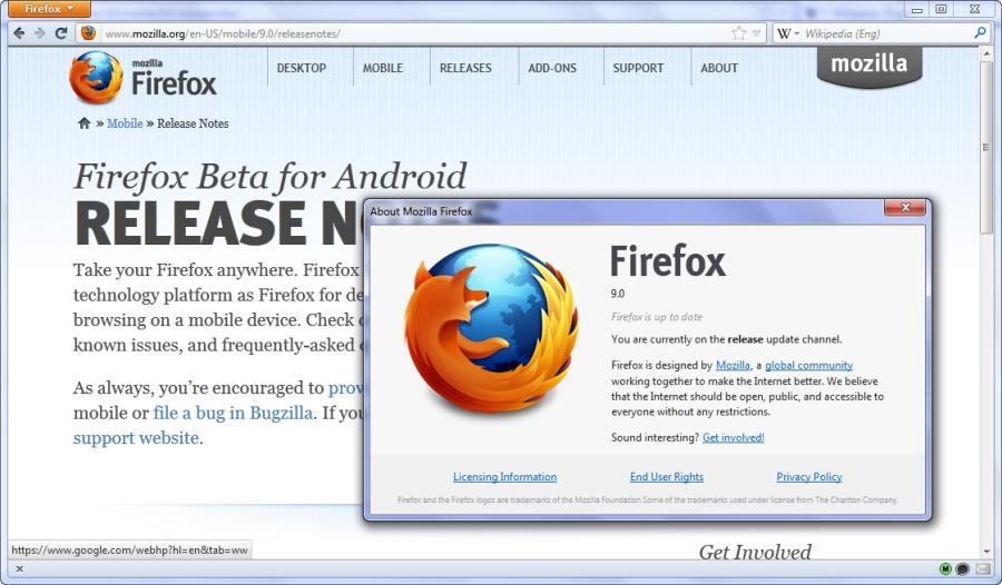 Mozilla ha lanzado la versión 9 de Firefox para Android