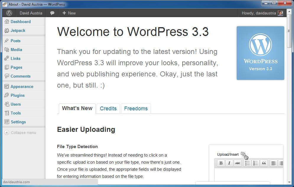 WordPress lanza la nueva versión WordPress 3.3
