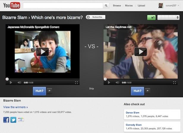 youtube, youtuve slam, videos populares
