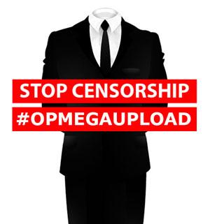 Anonymous ataca varios sitios oficiales en protesta por el cierre de Megaupload