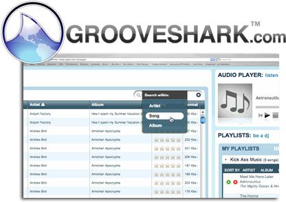 grooveshark, musica en streaming