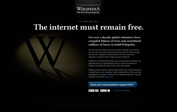 google, mozilla, wikipedia, twitter, apagon por la ley sopa, protesta contra la sopa