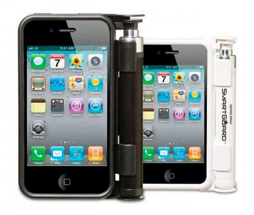 iphone, funda con spray antivioladores