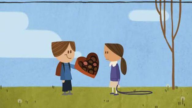 doodle san valentin, google