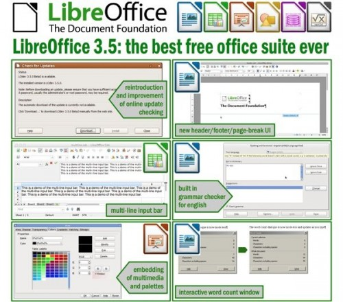 libreoffice 3.5, document foundation, decargar libreoffice