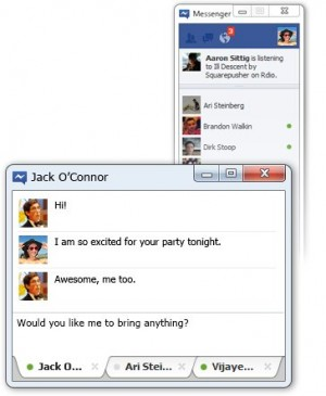facebook messenger, windows 7
