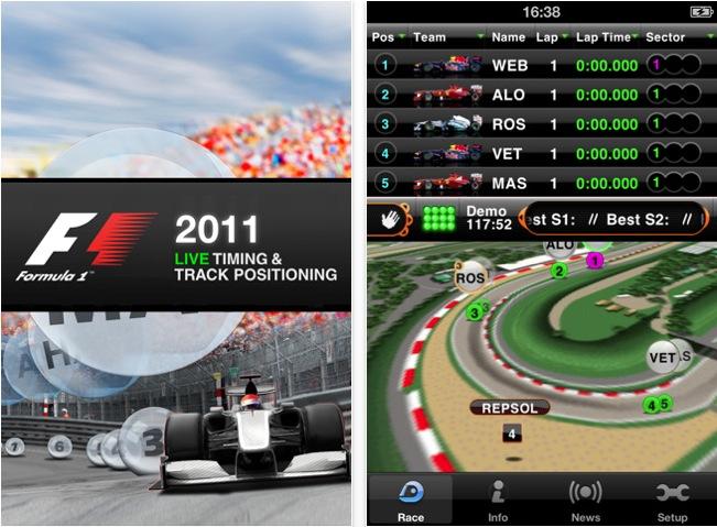 Aplicación para seguir el mundial de Fórmula 1