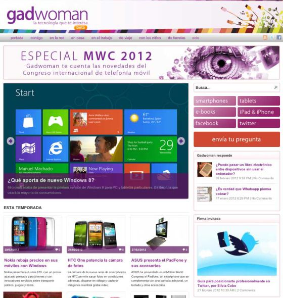 gadwoman, revista de tecnologia