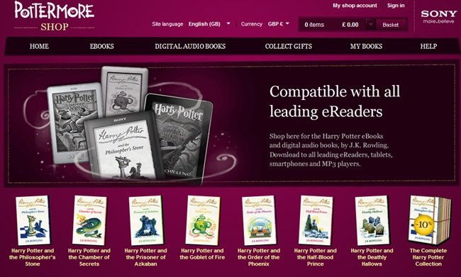 Harry Potter e-book