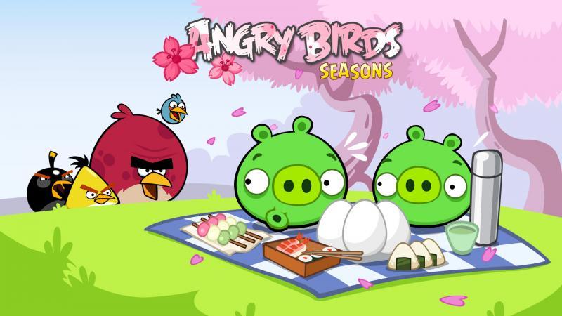 rovio, angry birds, cherry blossom