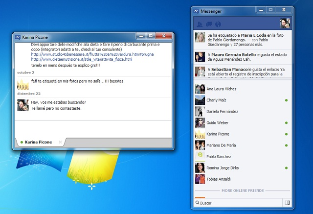 facebook, facebook messenger para pc