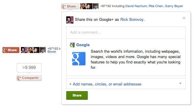 google +, boton compartir