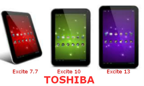 Toshiba Excite, tres nuevos tablet Android