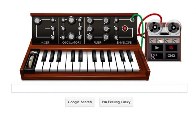 El doodle de Google dedicado a Robert Moog
