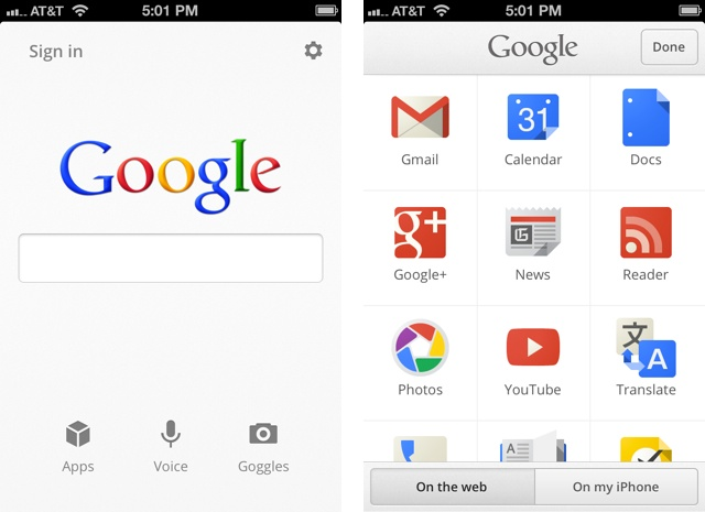 Llega Google Search 2 para iPhone, iPod touch y iPad