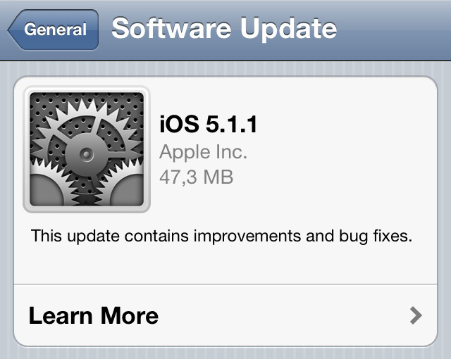 iOS 5.1.1 disponible, incluso con jailbreak
