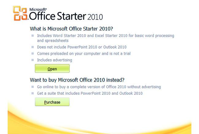 Microsoft dice adiós a Office Starter Edition