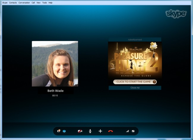 Skype introduce Conversation Ads