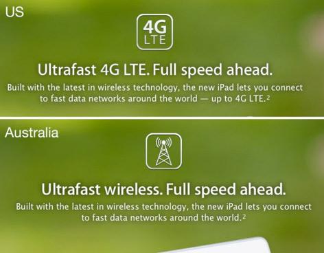 Apple es multado en Australia por el nuevo iPad 4G LTE