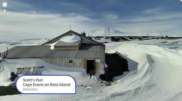 Google Street View en la Antártida