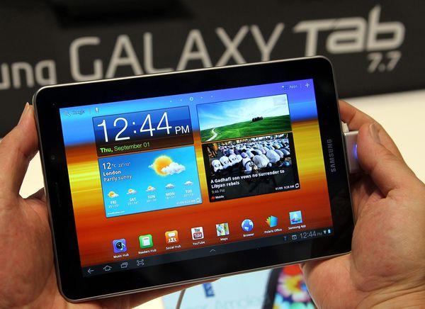 Samsung Galaxy Tab 7.7 prohibido de Europa