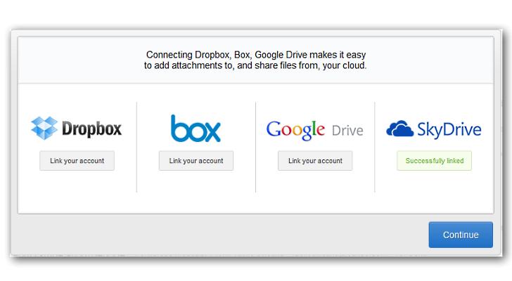 Microsoft incluye SkyDrive en Gmail