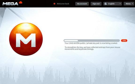 Mega, el sucesor de MegaUpload comienza con 250 mil usuarios registrados