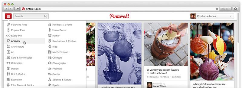 Pinterest lanza un nuevo diseño para mejorar la navegación