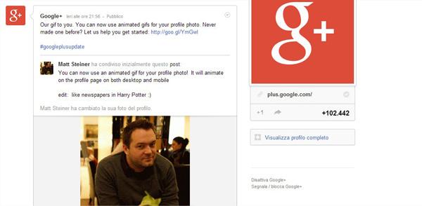 Google Plus: ahora avatares pueden ser GIF