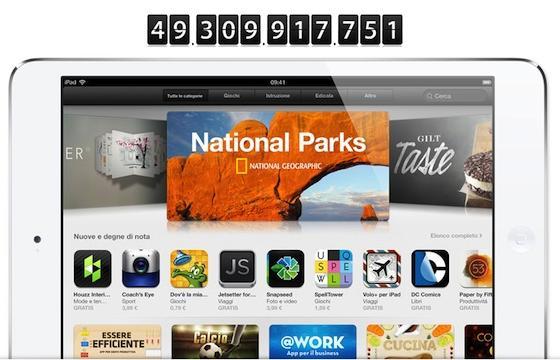 App Store, 50 millones de descargas