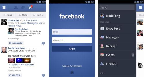 Facebook para Android, nueva actualización disponible