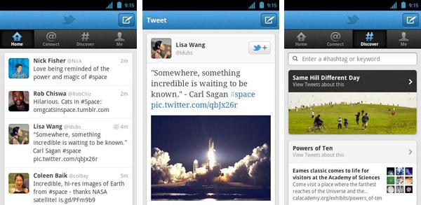 Twitter para Android, nueva actualización