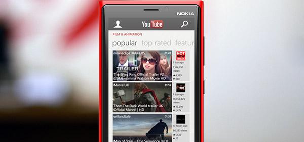 Google bloquea la nueva aplicación de YouTube para Windows Phone