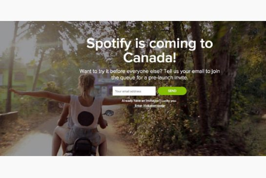 Spotify en Canadá
