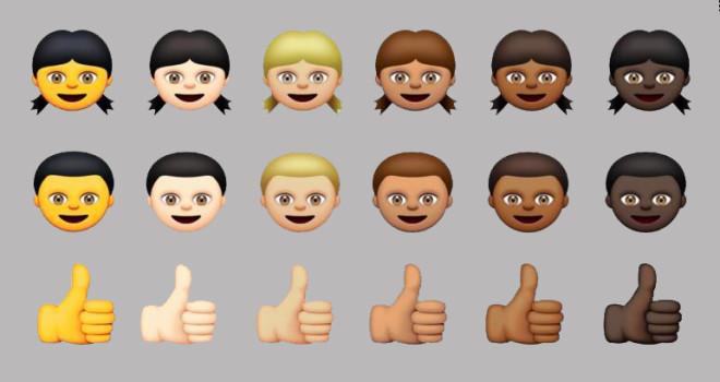 Apple, emoji multiétnico
