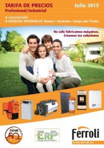 tarifa de precios Jul-2015 Ferroli
