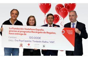 'Recárgate de Regalos' (Vodafone) reparte 120.000 euros en causas solidarias.