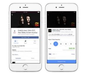 Facebook permite vender entradas en las páginas de eventos de conciertos