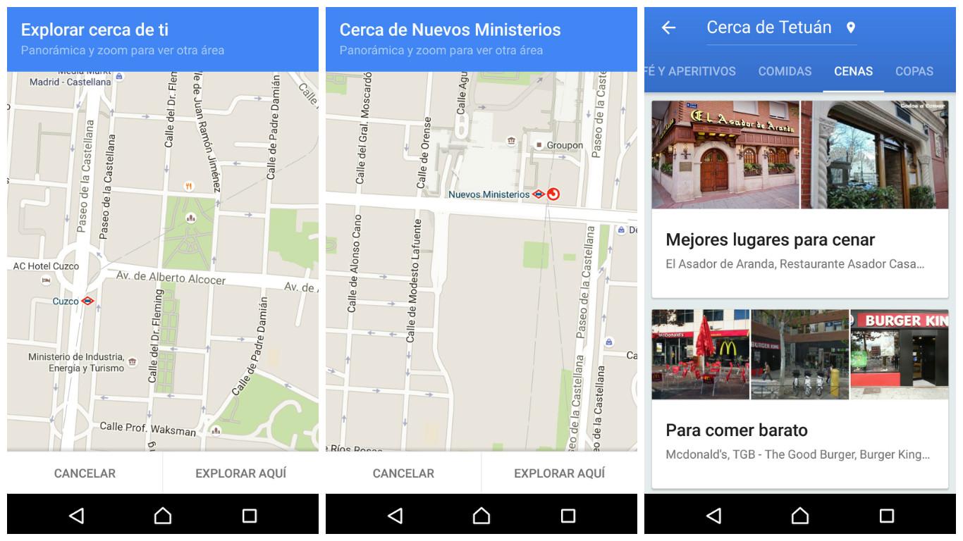 Google Maps mejora la función 'Explorar cerca de ti'