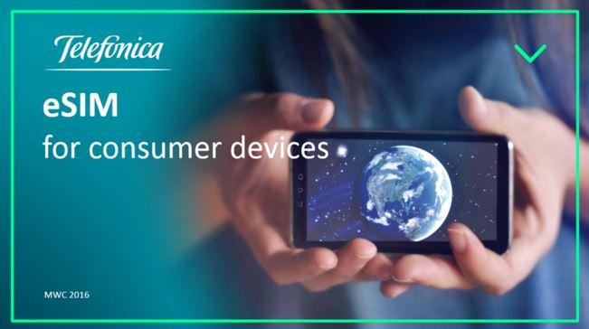 Telefónica muestra tecnología eSIM en el Mobile World Congress 2016
