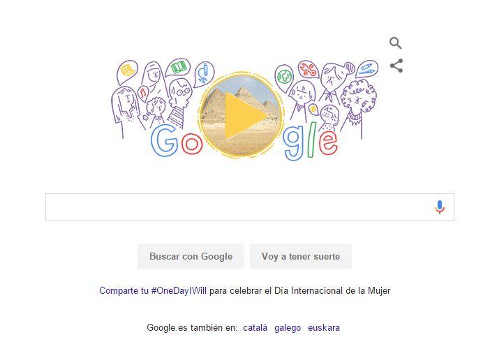 Google celebra con un doodle el Día de la Mujer