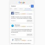 Google mejora los resultados de aplicaciones en búsquedas móviles
