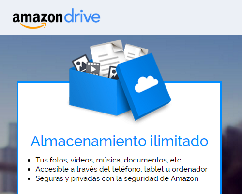 Amazon anuncia servicio de Almacenamiento ilimitado en la nube