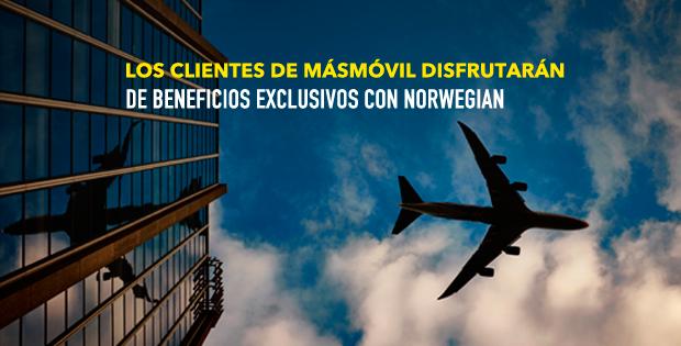 MásMóvil ofrece a sus clientes descuentos exclusivos en Norwegian